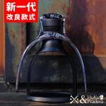 《套裝組》【英國】ROK Espresso Maker 手壓式萃取濃縮咖啡機 (暗夜黑) +【英國】ROK GrinderGC 手搖磨豆機